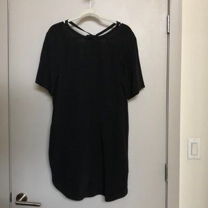NWOT COS black silk dress